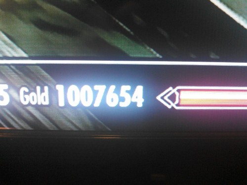 Reached a million on skyrim on Xbox