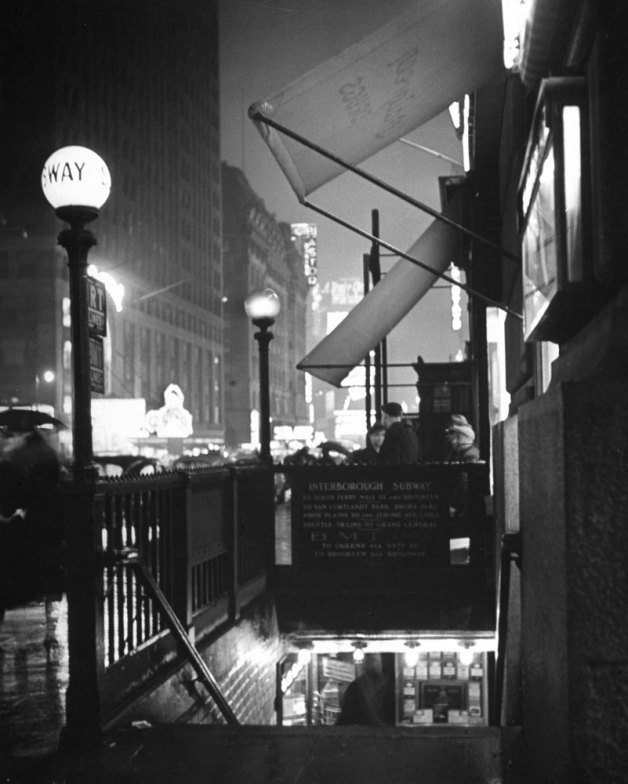 Times Square subway entrance. New York, 1942. By Thomas McAvoy