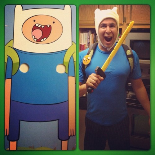 Adventure Time! #halloween #costume #adventuretime #cartoon #fun #imagination #igers #ignation #igdaily #instagood #instamood #Bakersfield