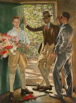 gaytimespast1940:  1926: 'The garden door.' by William Bruce Ellis Ranken. I would go as far as to say that the title might be My fantasy garden door :)