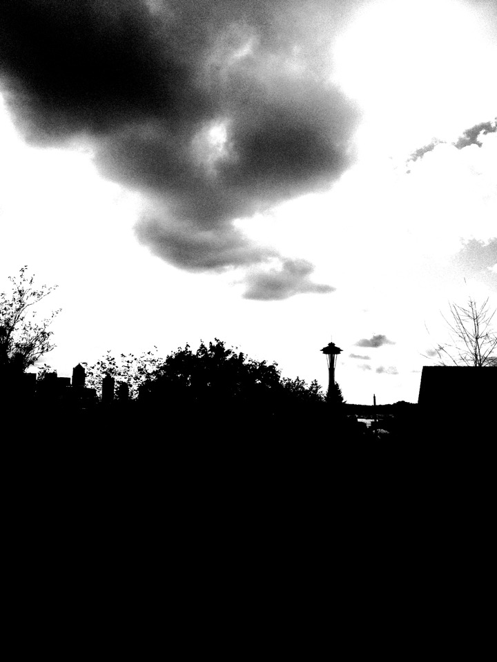 Seattle Skyline #hueless © 2012 Kent Kangley