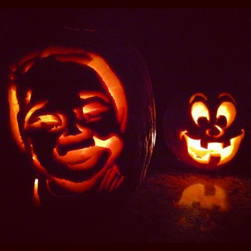 Jae-O-Lantern and Silly Face, by Nicholas Stein and @moni_k_a  Valenzuela