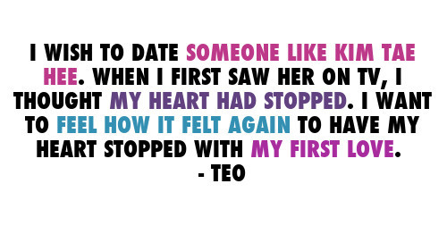 mylunafly:  [QUOTE] Teo, on the kind of relationship he wished to have. (x)