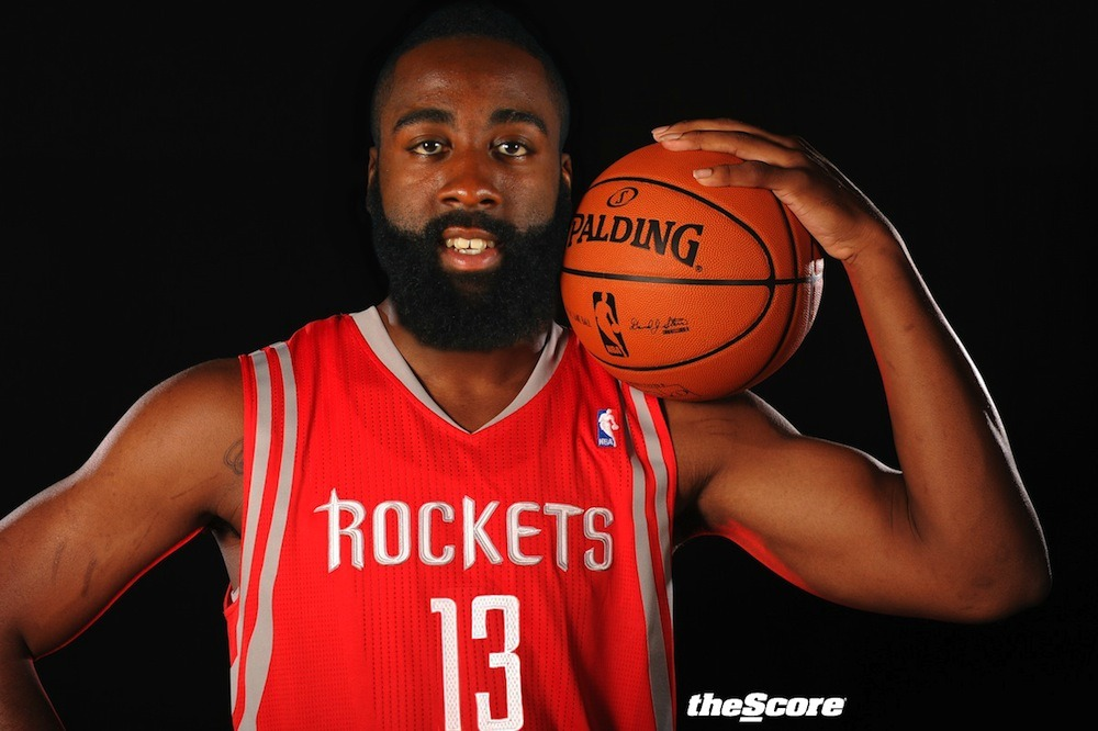 Rocket Up! James Harden in a #Rockets jersey. (photo)