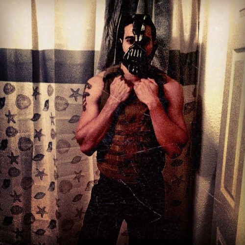 I am gothams reckoning😎#bane #batman #darkknight #halloween #costume