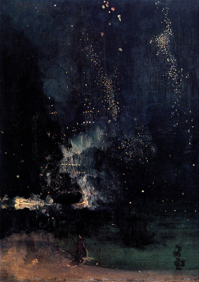 nevver:  Nocturne in Black and Gold: The Falling Rocket, James Whistler