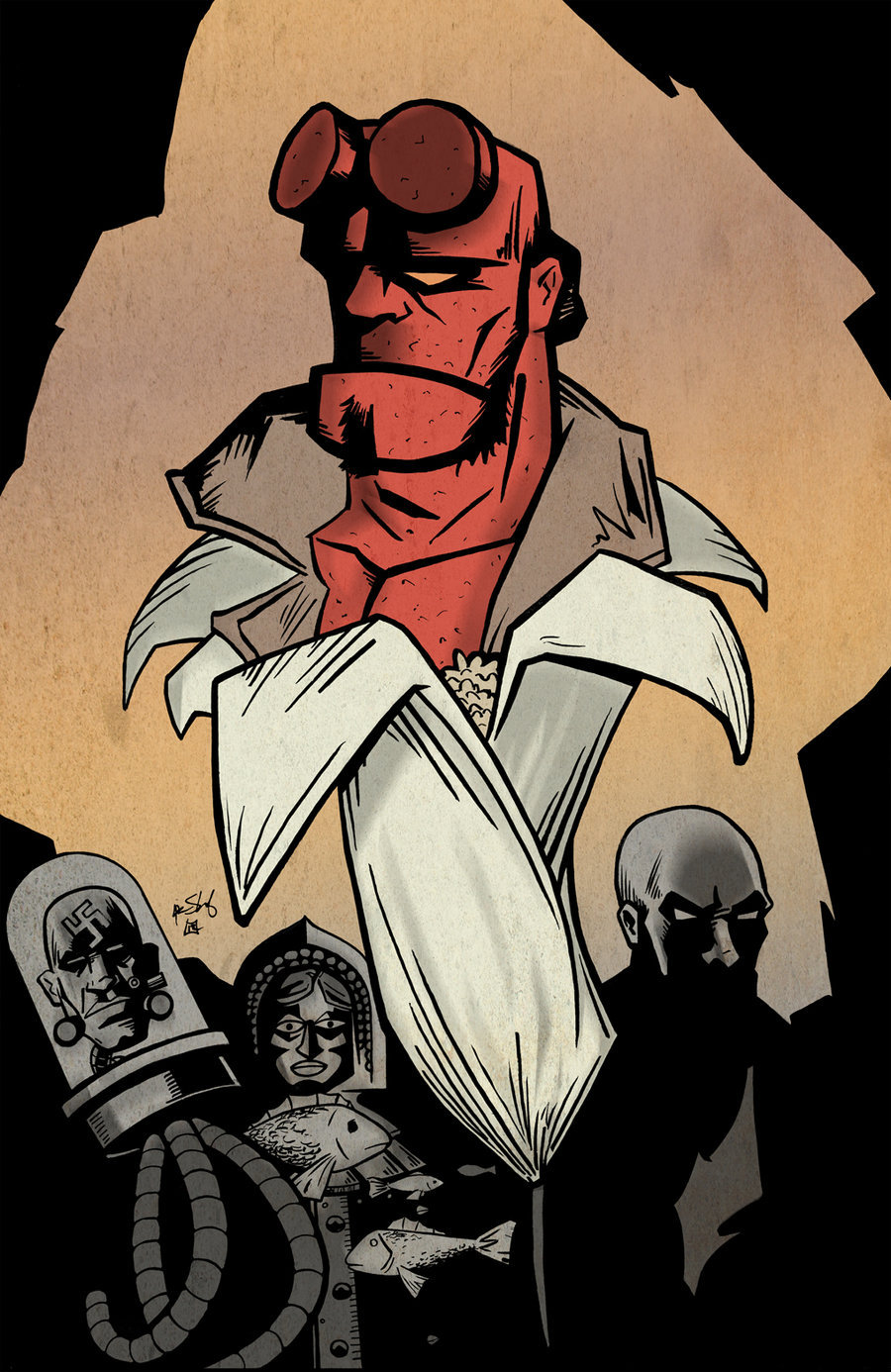 Hellboy Colored by Justin Shauf