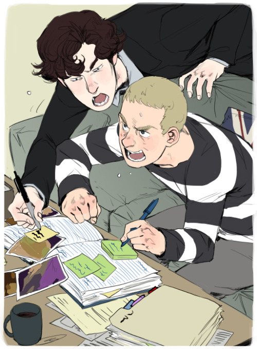 reapersun:  john and sherlock make the casebook~ ————————————————————————- someone (sorry i replied to you so i don't have your name anymore!) asked me if i would make casebook art and i said i was probably too busy but then i looked at my to-do list with like twenty two things on it and suddenly instead of actual work casebook art happened