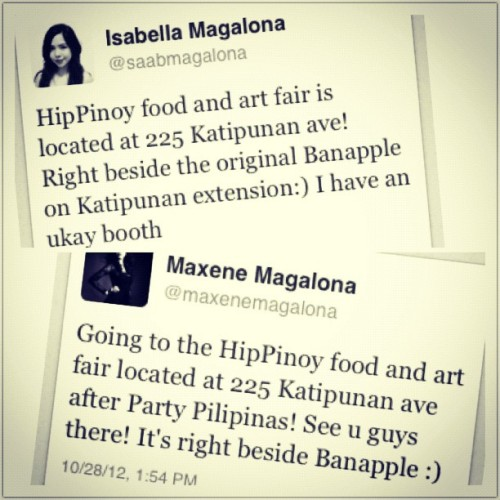 #hippinoy lovin' from Saab and Maxx. @marquismisa and I have such supportive besties it makes me want to cry. Ano raw? Swing by the #hippinoy Art + Food Fair! Last day today! :)