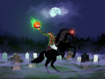 Headless Horseman illustration.