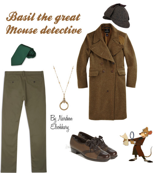 Basil the Great Mouse Detective by nardeenelsokkary featuring a tweed hat