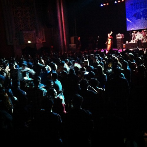 "The pit during ""Fuck the World""  #tigerarmy #neverdie #foxtheater #pomona #FTW"