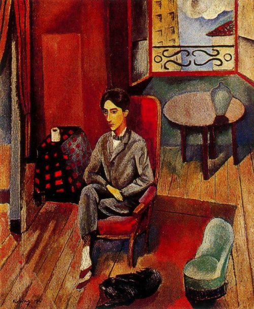 Moise Kisling, Portrait of Jean Cocteau, 1916. Oil on canvas.