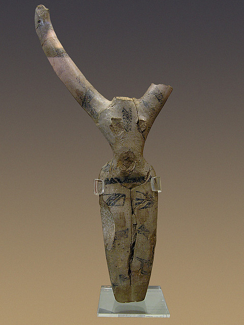 dwellerinthelibrary:  (via Decorated female figure, Naqada Period)