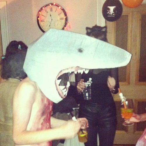 Shark Attack… #halloween #halloween2012 #party #dance #flat #party #glasgow #scotland #uk #jaws #shark  (at Battlefield)