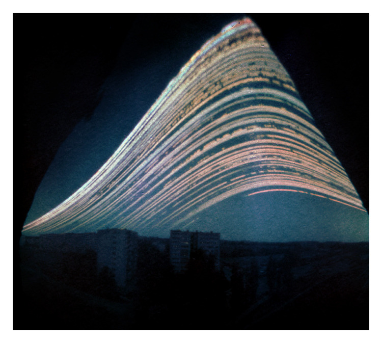 """The photo was taken with a pinhole camera ( DIY ) with a long exposure.Exposure time: four months / July-OctoberSolargraphy is a photographic method for recording the paths of the Sun.By doing so the invisible movements of the Sun can be made visible in landscapes."" *** by ~TokugawaLenari"