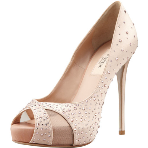 Valentino pumps   ❤ liked on Polyvore (see more platform high heels)