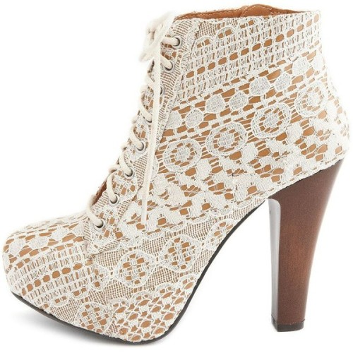 Charlotte Russe ankle booties   ❤ liked on Polyvore (see more platform booties)