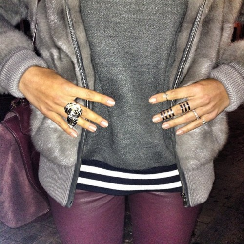 Grey meets maroon #leivankash #celine #repossi