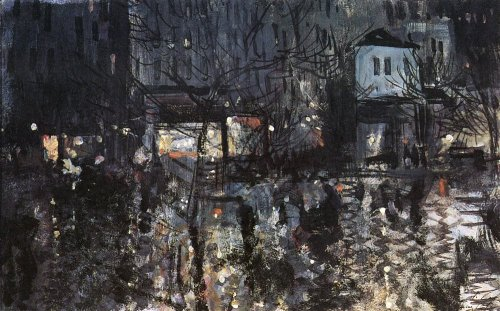 Konstantin Korovin, After rain. Paris, 1897