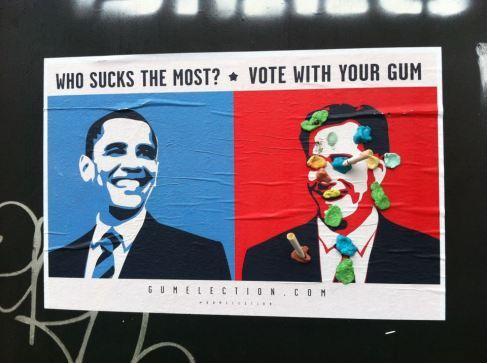 Who sucks the most? vote with your gum.via Gum Election 2012