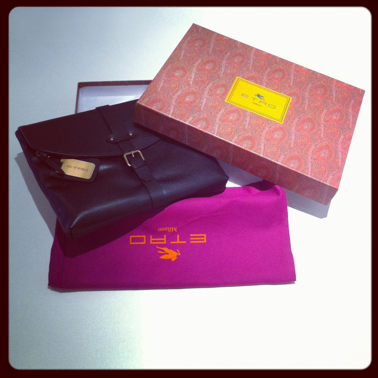 Our sunday fix? Etro's stylish leather portfolio. BUY at: http://bit.ly/SjWOga