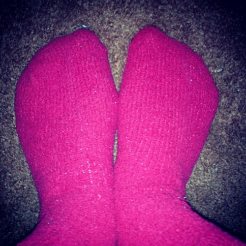 #red #fuzzy #socks #warm