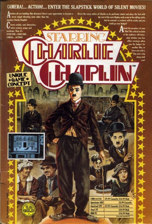 Starring Charlie Chaplin (1987) ad by US Gold for a host of platforms.