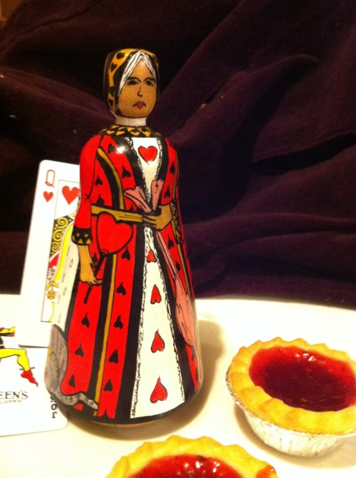 New Queen of Hearts design, painted by Jilli Roberts for the Deepings Dolls.