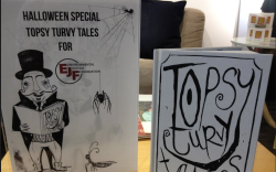 Topsy Turvy Tales in support of the Environmental Justice Foundation for sale on Carnaby Street