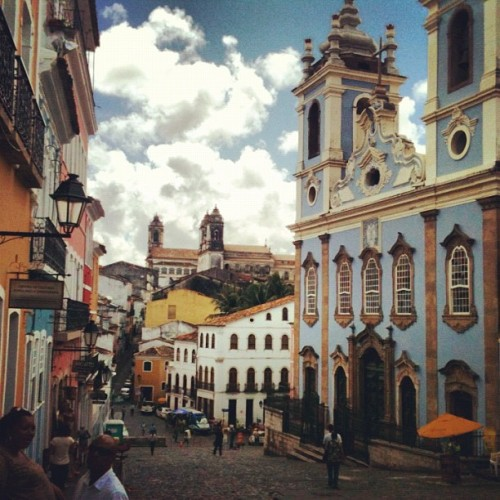 #pelourinho #salvador #bahia #brasil #church #catholic #street #old #beautiful #sky #cloud #instahub #igers #travel #tourism #instagood #instamood