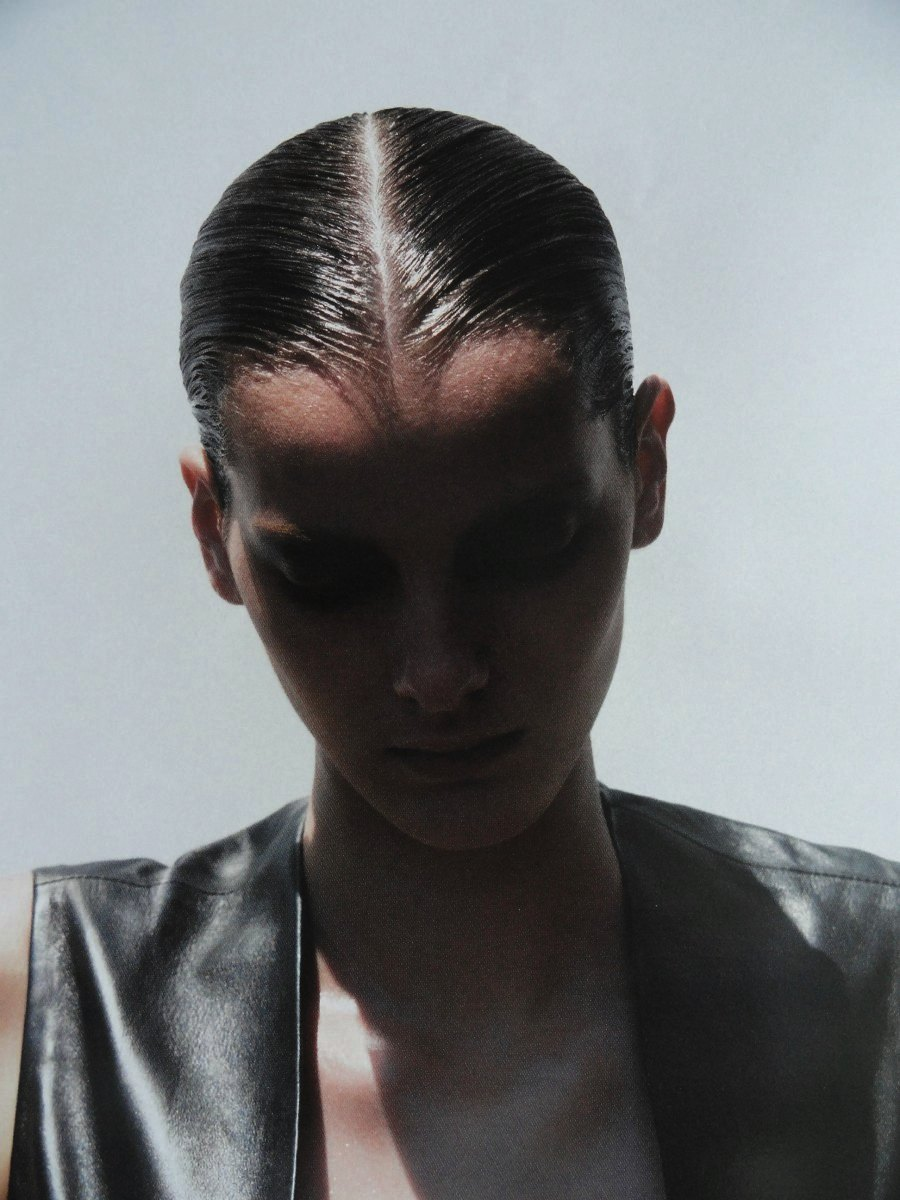 Model wearing Ann Demeulemeester, photographed by Thomas Schenk.