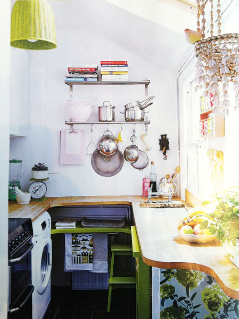 (via Down and Out Chic: Interiors: Compact Kitchens)
