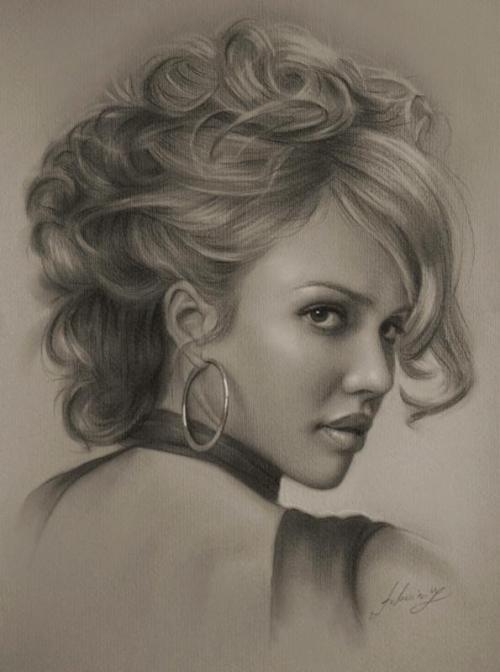 showslow:  Pencil Sketches by Polish artist Krzysztof Lukasiewicz, aka krzysztof20d. Krzysztof created a series of impressive portraits of celebrities. (Website)