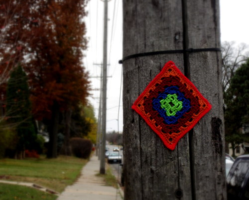 Some #yarnbomb love for Standish-Ericcson