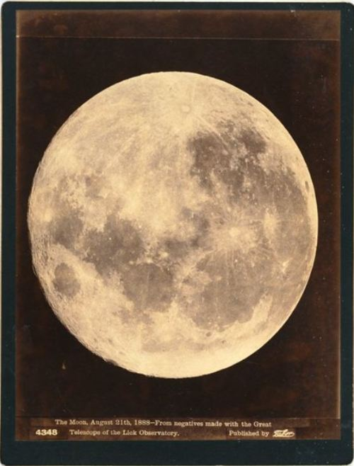 "ca. 1888, ""The Moon, August 21st, 1888—From negatives made with the great telescope of the Lick Observatory"", Isaiah West Taber via the San Francisco Museum of Modern Art"