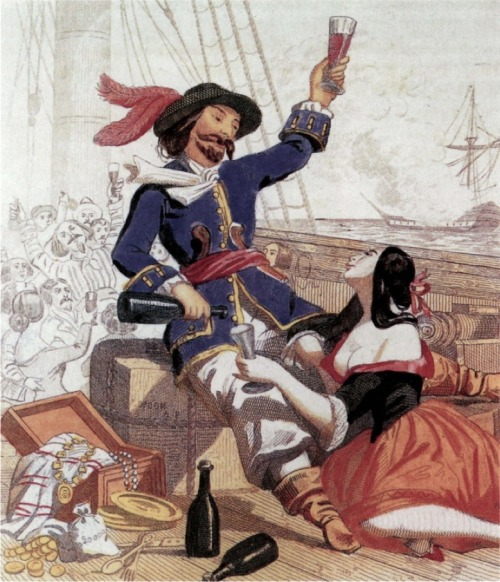 georgy-konstantinovich-zhukov:  A rather fanciful portrayal of Captain Morgan, from the late 19th-century book Histoire des Pirates.