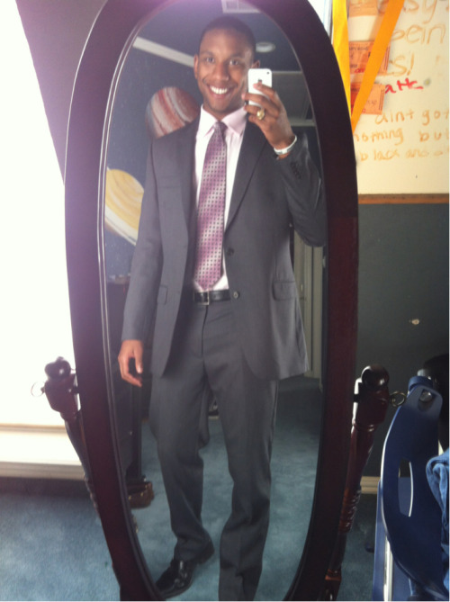 On my way to church:  Skinny suit…slim fit shirt…Kenneth Cole shoes  **Psalms 62:1-2  -Cam