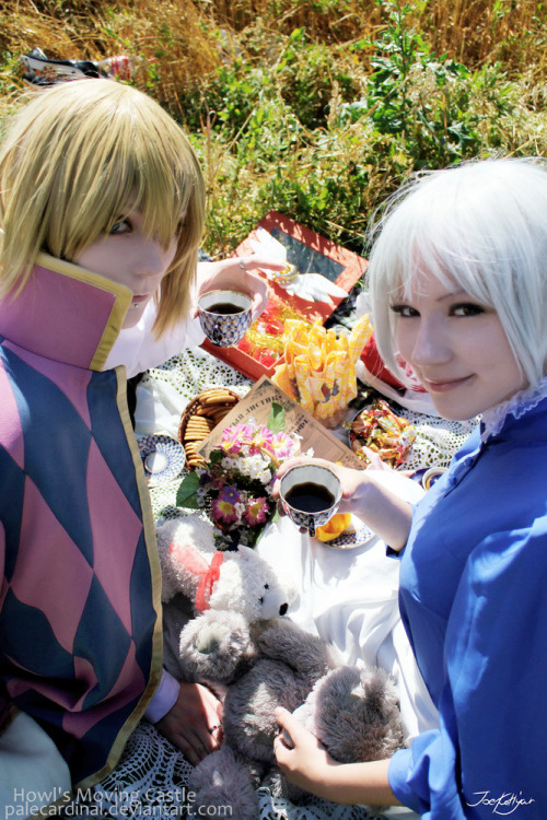 nothingbutcosplay:  Howl + Sophie: wut? XD by *palecardinal