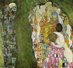 engineers-of-the-soul:  Gustav Klimt - Life and Death (1916)