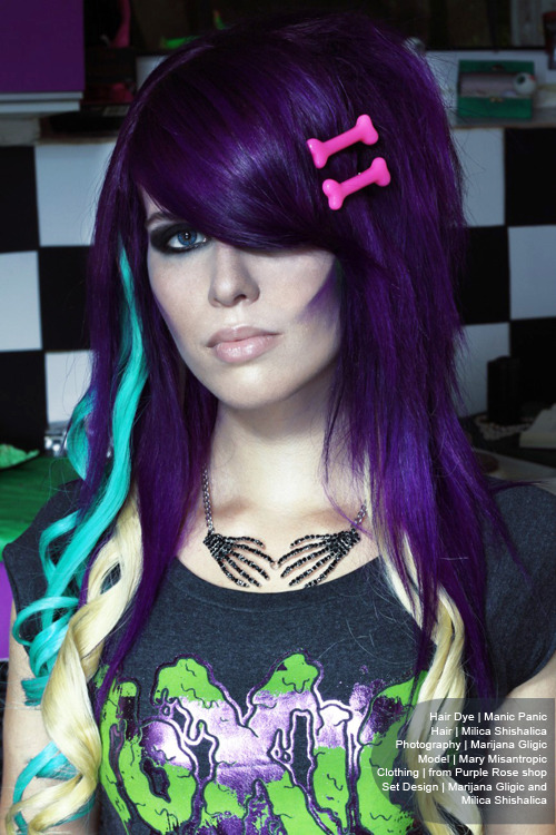 Lovely purple, blue and blonde from the Manic Panic website (via CUT Team ~ Purple Rose)