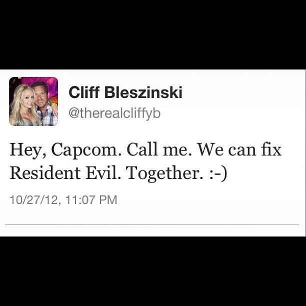 What a nice guy Cliffy B is - #gaming #residentevil #lol #tweet #twitter #lmfao