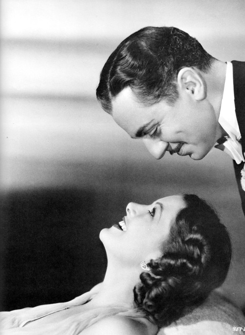 """Any actor who has the chance to play opposite Myrna Loy is a lucky guy. The Thin Man would never have been the success it was without her. She has the give and take of acting that brings out the best. When we do a scene together, we forget about technique, camera angles and microphones. We aren't acting—we are just two people in perfect harmony."" — William Powell on working with Myrna Loy, Screenland Magazine, March 1936"