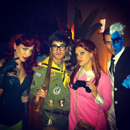 """Micheline, Darren, Mia and Me….Poison Ivy, the kids from Moonrise Kingdom and Two-Face"" [x]"