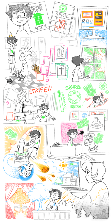 xamag-homestuck:  YESSSS Finally I'm posting all this old crap. E%CELLENT.