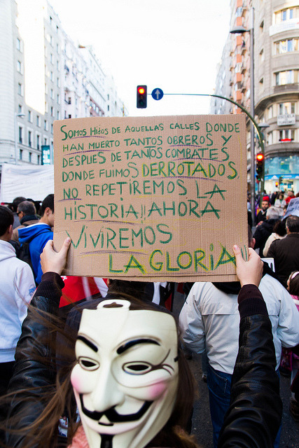 #27o, Volvemos al Congreso by Jan Slangen on Flickr.A través de Flickr: Manifestation in Madrid from plaza Espana to the congres on 27 octobre 2012.