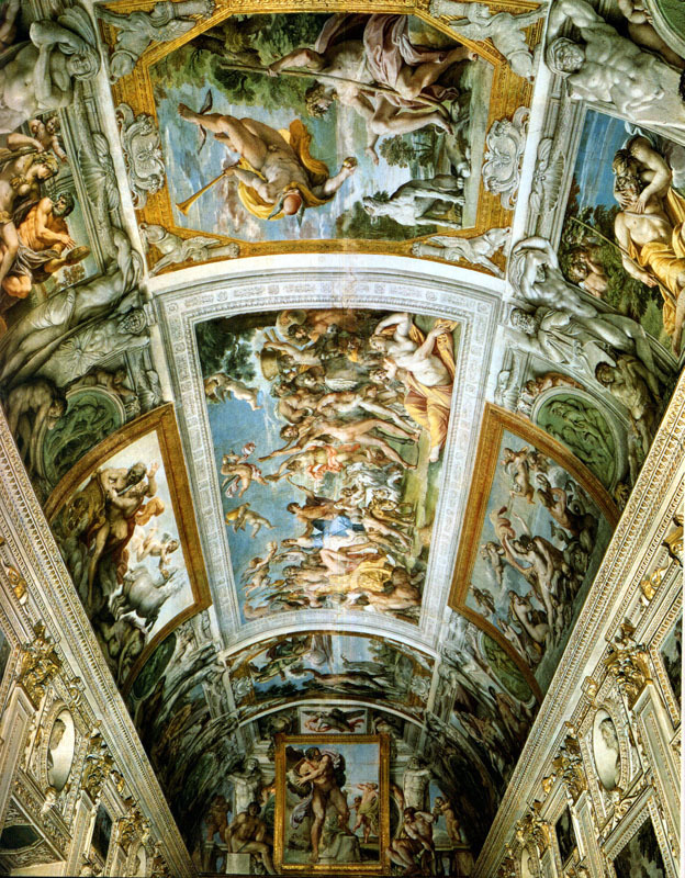 The Gallery of the Farnese Palace, Rome, by Annibale Carracci. Painted between 1597 and 1600.