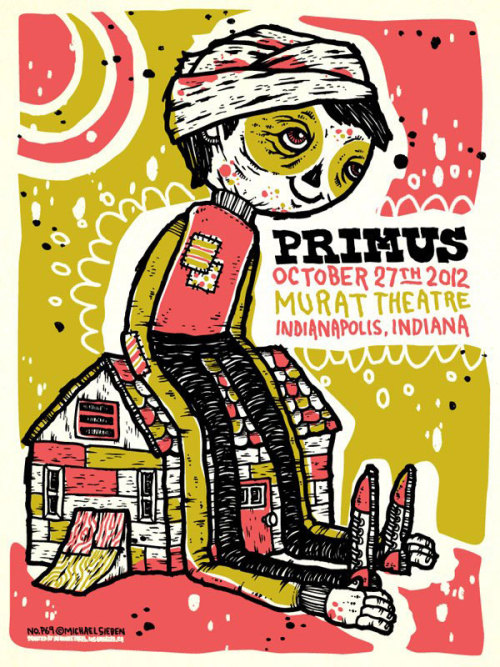 I was recently asked (by ZOLTRON) to design a PRIMUS poster for their current tour. Each venue that they're playing at has a unique poster designed by a different artist (read more here.) I have 50 signed and numbered (low numbers) posters available in the Gift Shop as well as 2 variants only available on this site.  Nostalgia slowly sets in…
