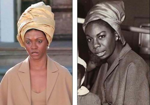 PHOTOS: @zoesaldana in black face to play the late great nina simone. more pics here. posted by @knimi.