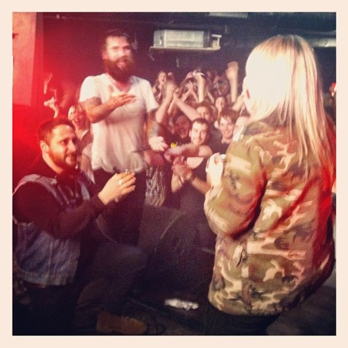 riffermadness:  Mid set marriage proposal last night in Brighton. That makes 2 this year!